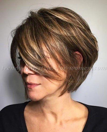18 coupes de cheveux court Bob pour les femmes âgées | Madame Coiffures