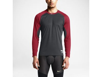Nike Pro Combat Core Fitted Raglan Long-Sleeve Men's Shirt
