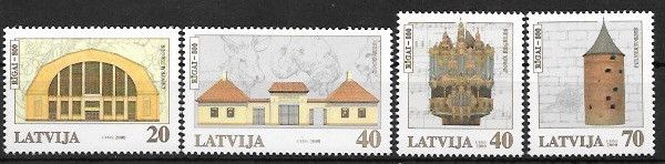 #508-511 Latvia - City of Riga, 800th Anniv. (MNH)