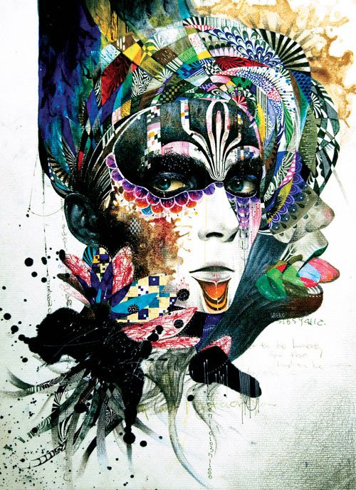 It is hard not to be impressed by the young South Korean-born artist Minjae Lee. At just 22 years of age, he has amassed an impressive portfolio of colorful portrait illustrations created mostly with acrylic paint and markers. The dramatic pieces are full of pattern and texture that create the haunting imagery.