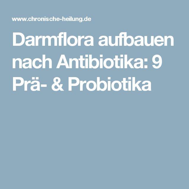 aufbau darmflora nach antibiotika homöopathie