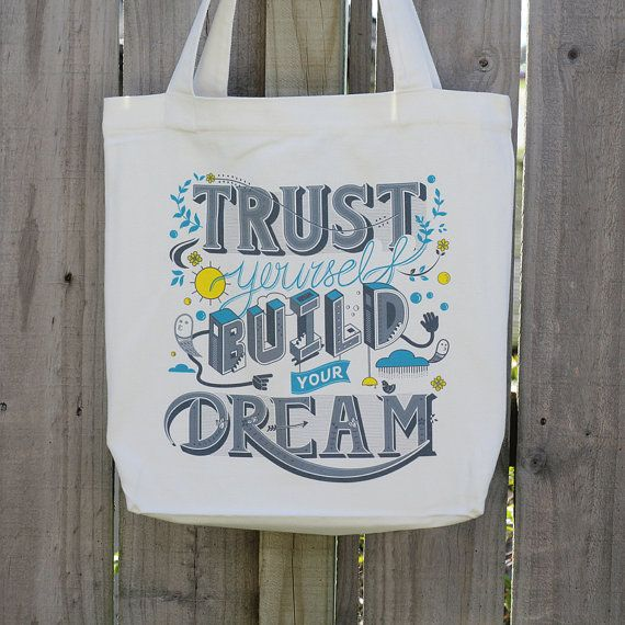 Trust Yourself Canvas Bag by ReneeChin on Etsy