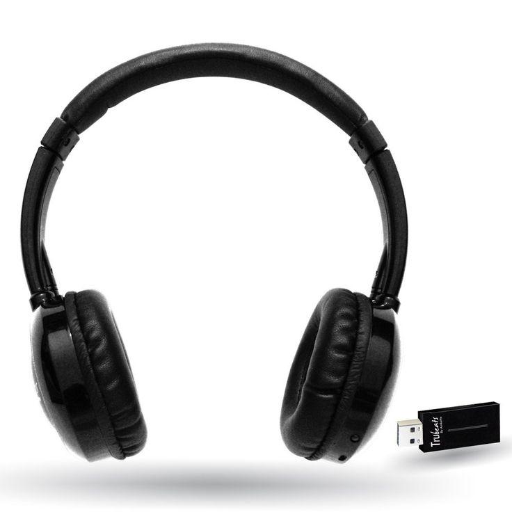 The Amkette Trubeats 2.4 GHz wireless headphone is a high-fidelity headphone. The headphone's well-built design has modernized features.