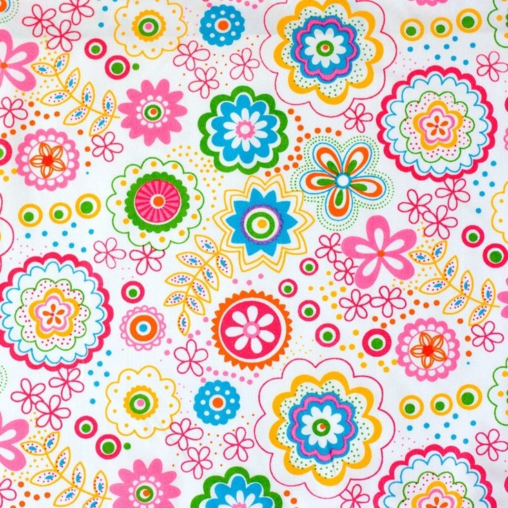 etsy fabric: Colorful Flowers, Diversity Stoffen, Diver Stoffen, Flower Fabric, Flowers Fabrics, Surface Designs, Etsy Fabrics, Colors Flowers