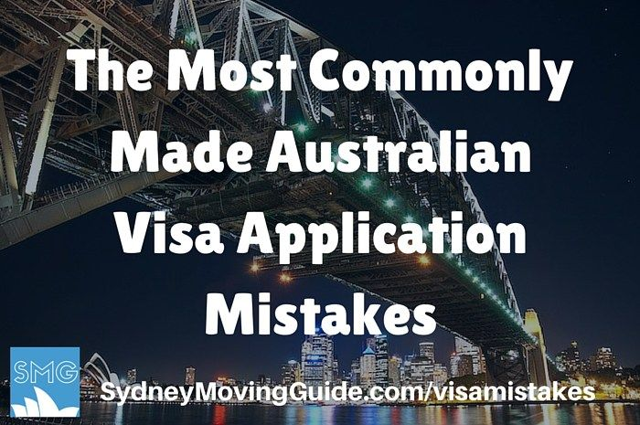 The Most Commonly Made Australian Visa Application Mistakes