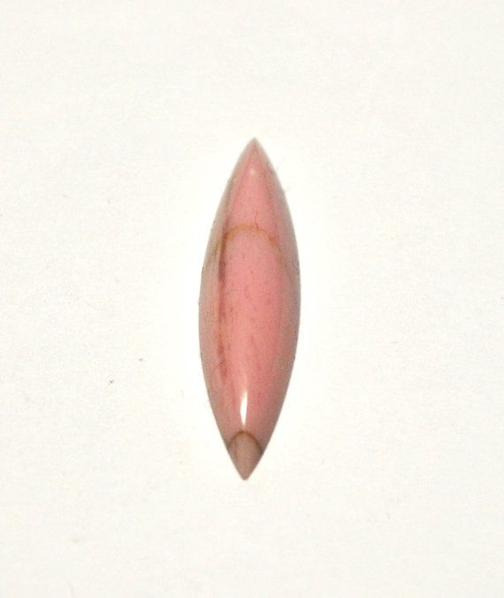 Natural Rhodonite Marquise Cabochon  25.7 x 6.6 x 3.4 mm by AliveGems