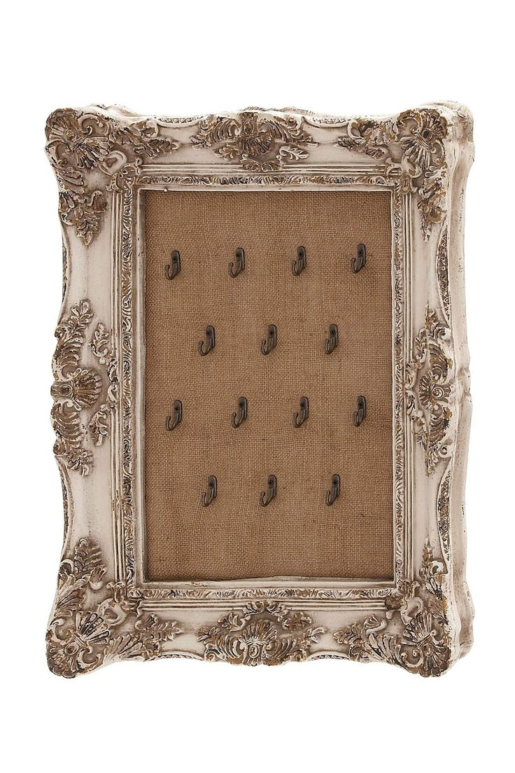 Rustic vintage baroque burlap jewelry hanger this for Baroque style home accessories