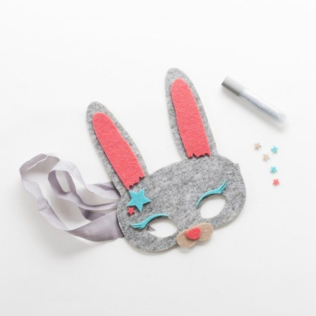Wear this bunny mask to celebrate Easter.