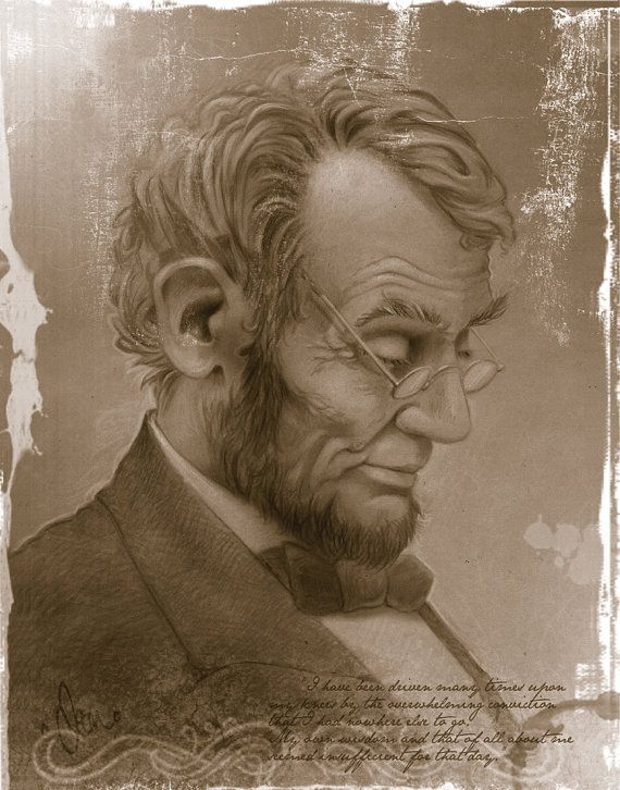 Abraham Lincoln: Portraits of the Presidents of Our Nation http://www.etsy.com/shop/DeanzArt
