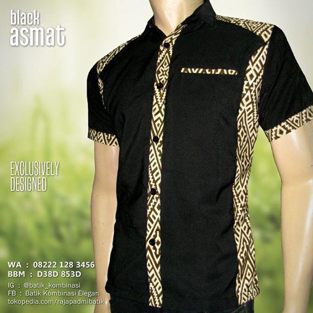SERAGAM BATIK, Batik Pria, Kemeja Batik Modern, Batik Kantor Elegan, BLACK ASMAT, Baju Batik Kombinasi, https://www.facebook.com/seragambatikkombinasi, WA : 08222 128 3456, BBM : D38D 853D