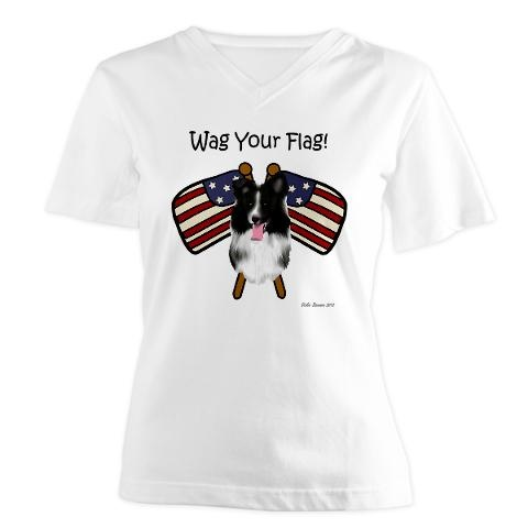 """Wag Your Flag"" Border Collie T-shirt    http://www.cafepress.com/CountryMuttCreativeDesigns/9134855"