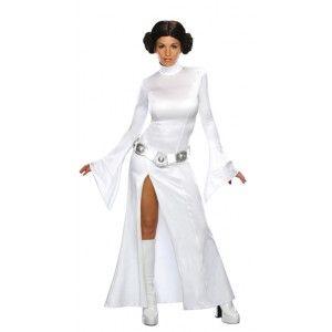 deguisement Princesse Leia Star Wars Deluxe sexy femme pour Halloween, fêtes ou soirées costumées.