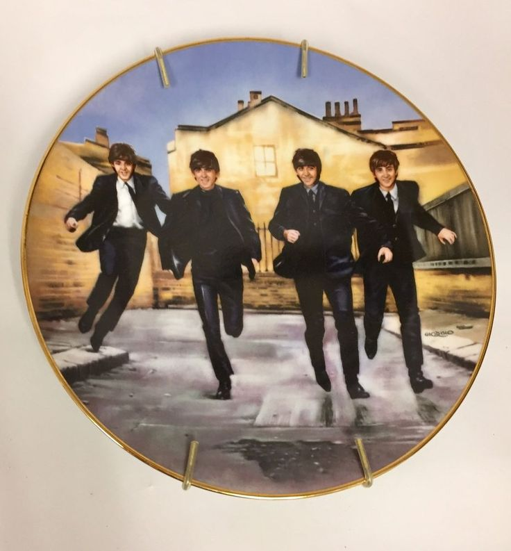 The Beatles Band Hard Days Night Third Issue Delphi Plate 1646 E Bradex Holder  | eBay
