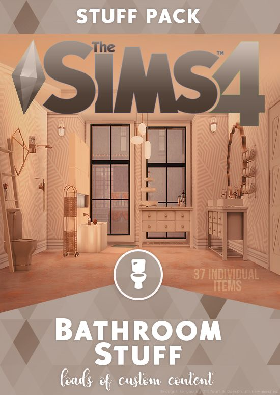 BATHROOM CC STUFF PACK – Proud Black Simmer