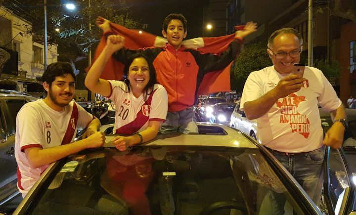Earthquake caused by Peru fans celebrating qualifying for World Cup !
