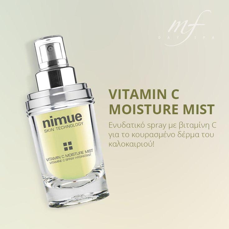 Σας προτείνουμε τον ιδανικό σύμμαχο για το δέρμα που κουράζεται από τη συνεχή έκθεση στον ήλιο! Δείτε το spray εδώ: http://www.mfdayspa.gr/gr/proionta-mfdayspa/proionta-prosopou/enydatika-proionta/spray-enydatiko-vitaminiC-nimue  #vitamineC #beauty #spa