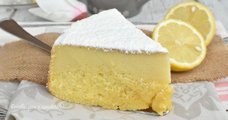 Torta Magica al Limone e Ricotta