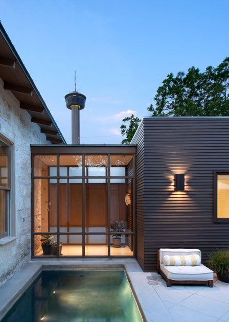poteet architects, cosy courtyard space | Adamchristopherdesign.co.uk