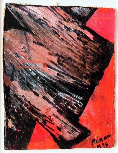 Marcelle FERRON - Sans titre (P654) 1976. Follow the biggest painting board on Pinterest: www.pinterest.com/atelierbeauvoir