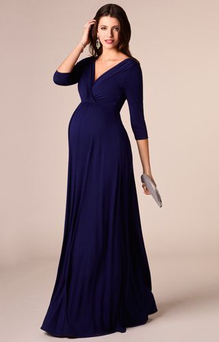 Willow Maternity Gown Long Eclipse Blue - Maternity Wedding Dresses, Evening Wear and Party Clothes by Tiffany Rose.