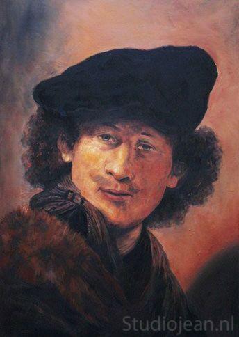 Rembrandt self portrait 1634 by Jean Elliot