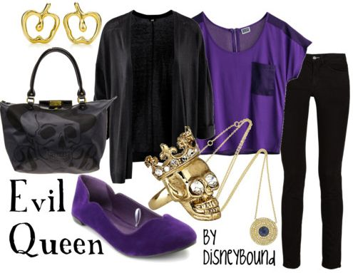 I could sport this, modern Evil Queen haha! Minus those flats thought.. Eww!