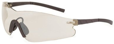 Crossfire Blade Safety Glasses with Brown Temples and Brown Indoor-Outdoor Lens