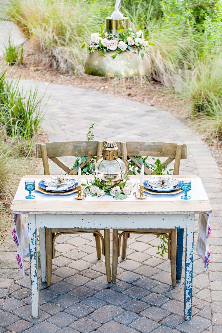 Nautical inspired table decor