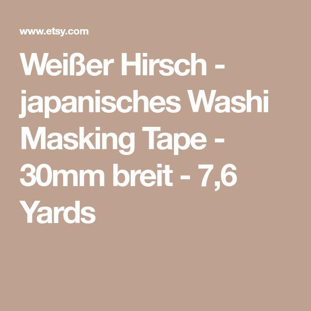 Weißer Hirsch - japanisches Washi Masking Tape - 30mm breit - 7,6 Yards