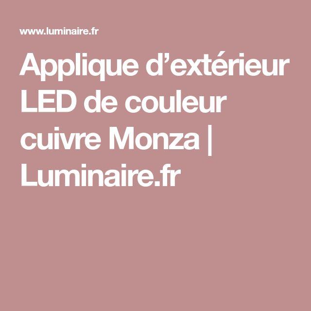 Applique d'extérieur LED de couleur cuivre Monza | Luminaire.fr
