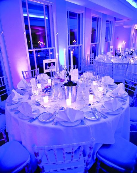 Stunning lighting sets a romantic feel in The Belvedere