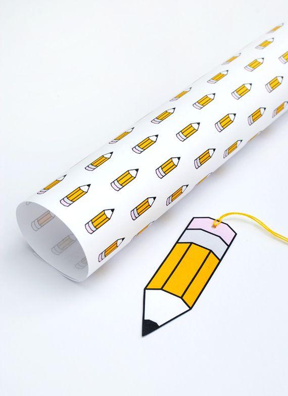 back to school // printable wrap & gift tags