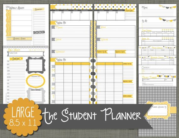 The 25+ Best Student Planner Printable Ideas On Pinterest | Study