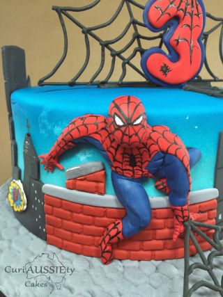 This weekends birthday cake for a little boy turning 3. They wanted spider-man to have some dimension not just be flat on the cake and modeling is not my thing so I tried to do a 2 dimensional effect for the first time, pretty happy with the...