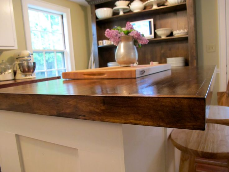 IKEA Wood Countertops | We Created This Wooden Counter Top Out Of Stain  Grade Wood Planks