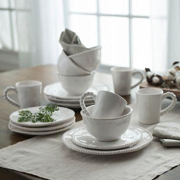 Bettina Dot White 16-pc. Dinnerware Set