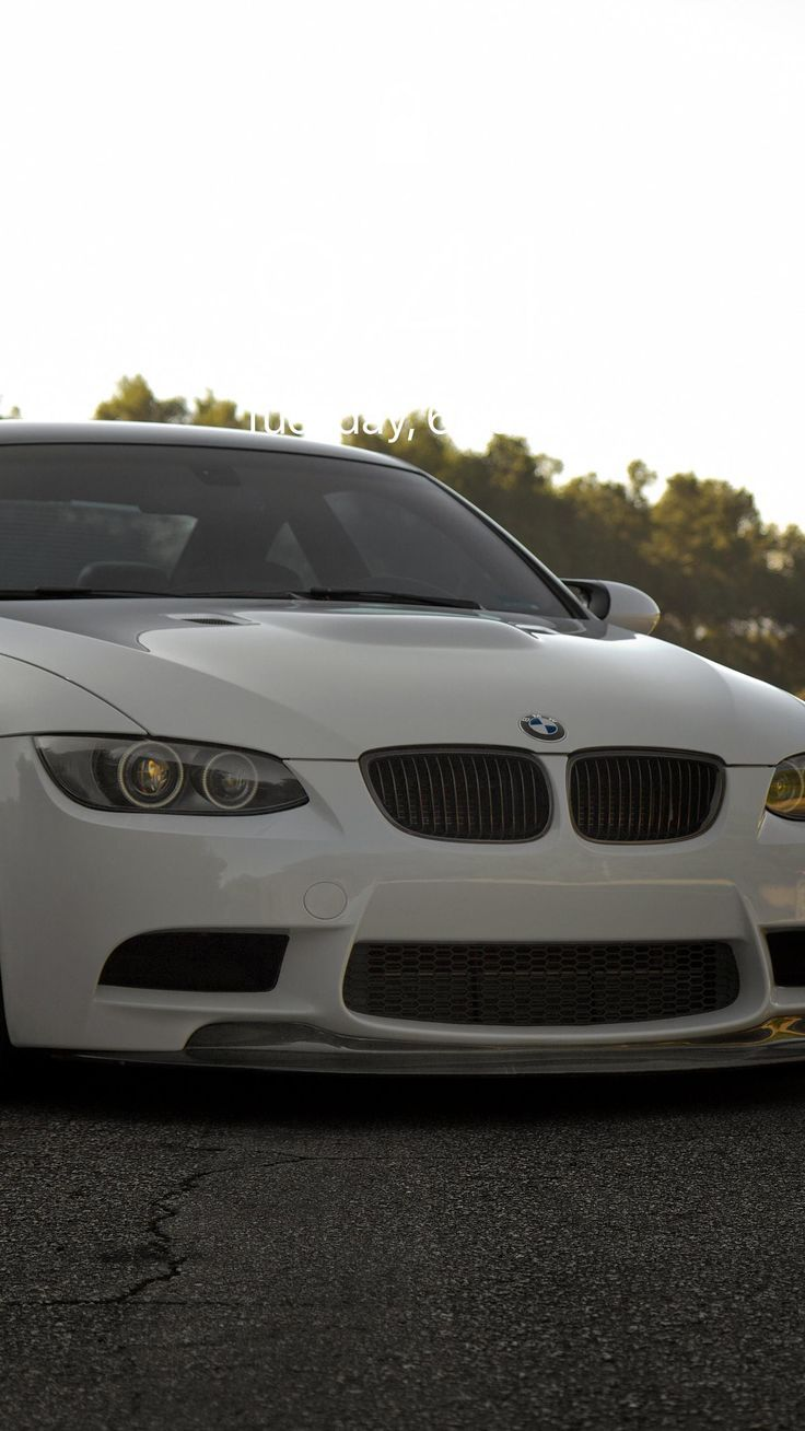 Bmw M3 E92 White Background Wallpaper Hd Iphone Ipad With Images