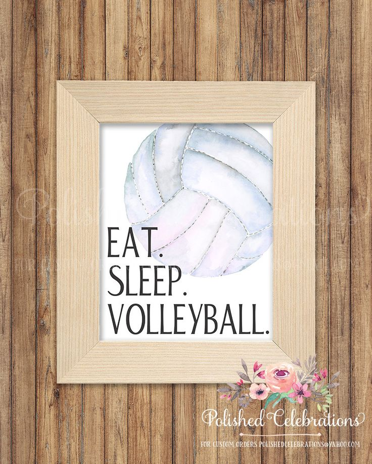 Eat Sleep Volleyball / Sports Printable / Bedroom Print / Instant Download Art / Watercolor Ball Sign / Motivational/ Athletic Nursery Decor by PolishedCelebrations on Etsy