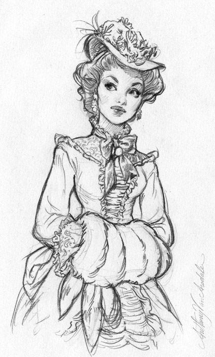 old-dress-styles-sketch-one pixels https://www.facebook.com/CharacterDesignReferences