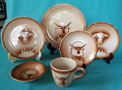 Syracuse China Western Restaurant Ware \ Ox Head-Rust\  Patterned Place Setting in Pottery \u0026 Glass Pottery \u0026 China China \u0026 Dinnerware Syracuse China : western style dinnerware sets - pezcame.com
