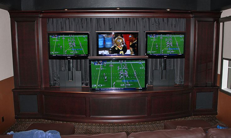 Man Cave Tv Stand 5 Screen Tv Lift Multimedia Room