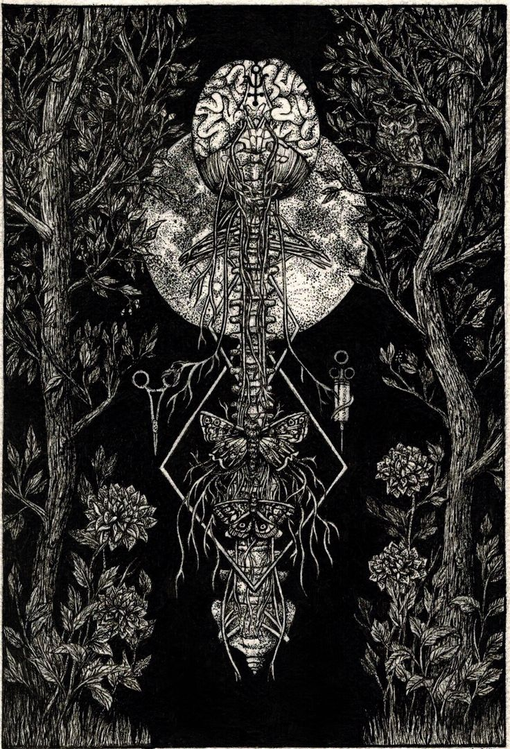 Black Bile  - ANNITA MASLOV ILLUSTRATIONS