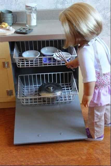 Dishwasher | 39 American Girl Doll DIYs That Won't Break The Bank