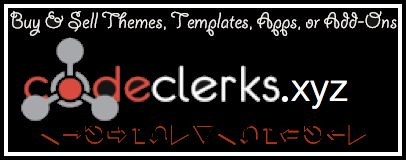 http://CodeClerks.xyz/ - Buy and Sell Software, Bots, Plugins, Templates, Apps, Scripts etc @jdubtbird