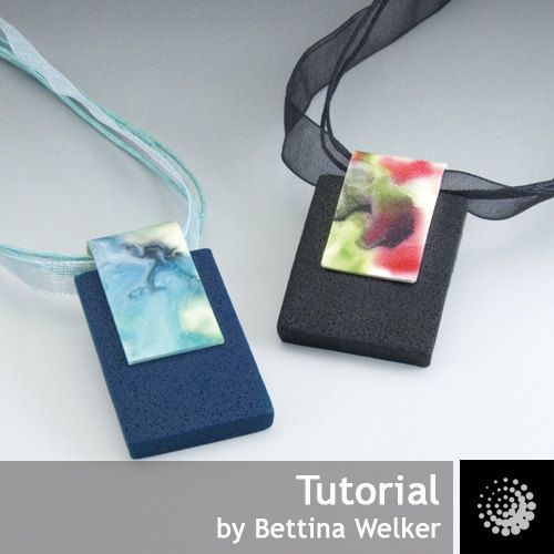 Polymer Clay PDF Tutorial Night Garden Pendant by beadworx on Etsy