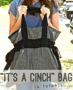 Free Bag Pattern and Tutorial - It's a Cinch Bag by Sweet Verbena