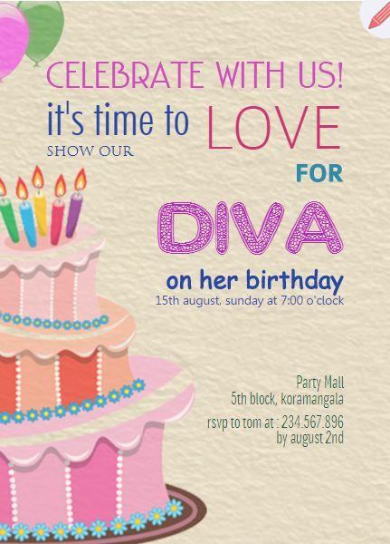 3332706df8b7c78e9ecf07b28c4df0eb kids birthday party invitations birthday parties 23 best kids birthday party invitations images on pinterest,Cake Decorating Birthday Party Invitations