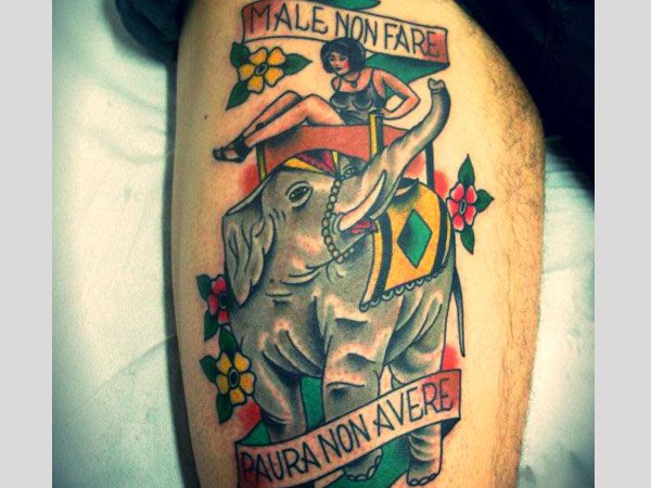 Circus Elephant Tattoo Meaning 35 astonishing elephant tattoo designs ...