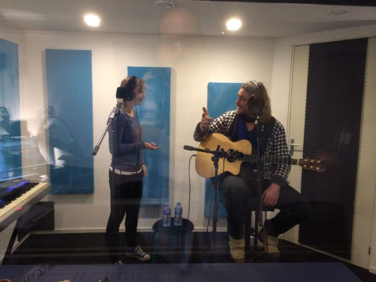 """Some kind of Fire Rose in the studio for the recording of there """"showcase"""""""