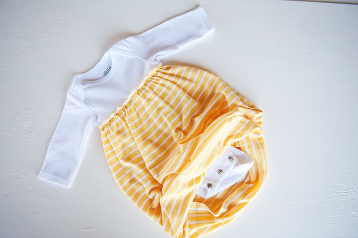 how to sew a baby sleep gown using a onsie